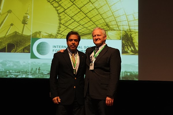 Victor Ilizaliturri (Mexico) Handing over the Presidency of ISHA to John O'Donnell in Munich, 2013