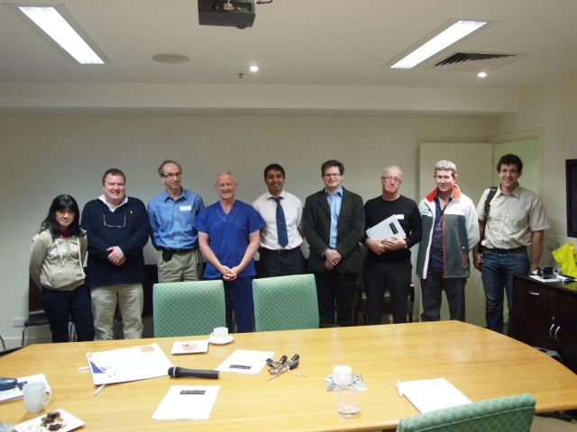 John, Parm, and Mike teaching Melbourne Surgeons on the 3rd HAA Hip Arthroscopy Instructional Course in 2009.